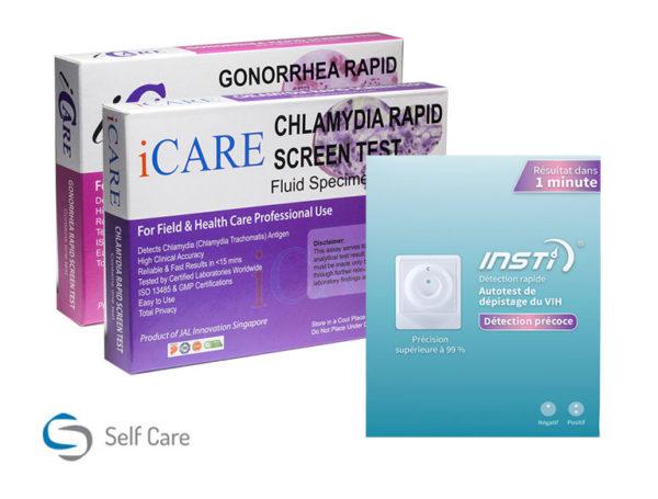 Litet paket för HIV- och STD-testning